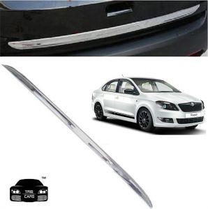 Car Accessories - Trigcars Skoda Rapid Car Chrome Dicky Garnish