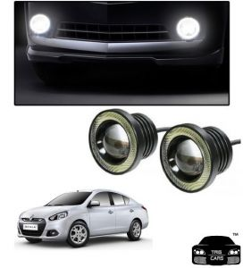 Car Accessories - Trigcars Skoda Scala Car High Power Fog Light With Angel Eye