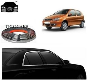 Chrome beading for cars - Trigcars Tata Indica Car Side Window Chrome Beading Moulding Roll   Car Bluetooth