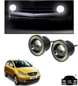 Trigcars Tata Indica Vista Car High Power Fog Light With Angel Eye