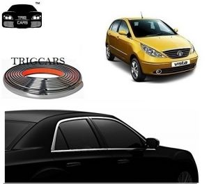 Chrome beading for cars - Trigcars Tata Indica Vista Car Side Window Chrome Beading Moulding Roll   Car Bluetooth