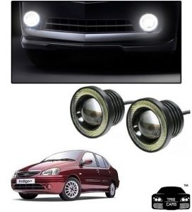 Trigcars Tata Indigo Sx Car High Power Fog Light With Angel Eye