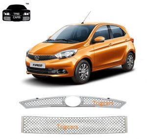 Car Accessories - Trigcars Tata Tiago Car Front Grill Chrome Plated