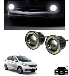 Trigcars Tata Tiago Car High Power Fog Light With Angel Eye