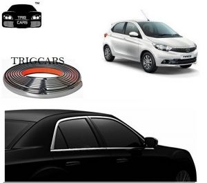 Chrome beading for cars - Trigcars Tata Tiago Car Side Window Chrome Beading Moulding Roll   Car Bluetooth