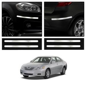 Trigcars Toyota Camry New Car Chrome Bumper Scratch Potection Guard Car Bluetooth
