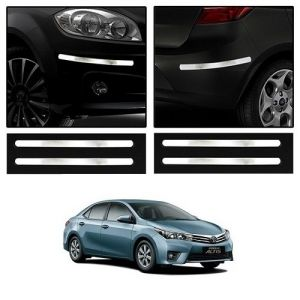Safety guards - Trigcars Toyota Corolla Altis Car Chrome Bumper Scratch Potection Guard   Car Bluetooth