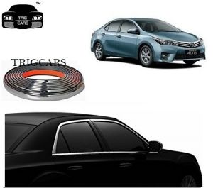 Trigcars Toyota Corolla Altis Car Side Window Chrome Beading Moulding Roll Car Bluetooth