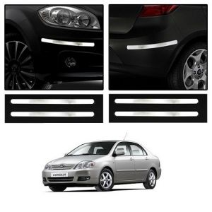 Safety guards - Trigcars Toyota Corolla Car Chrome Bumper Scratch Potection Guard   Car Bluetooth