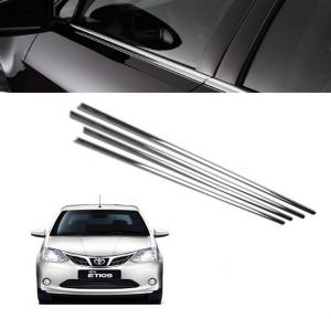Chrome beading for cars - Trigcars Toyota Etios New Car Window Lower Garnish