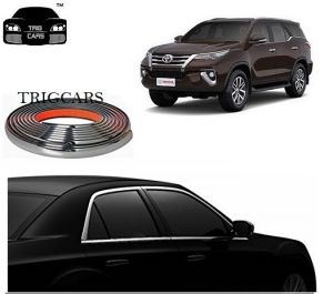 Trigcars Toyota Fortuner New Car Side Window Chrome Beading Moulding Roll Car Bluetooth