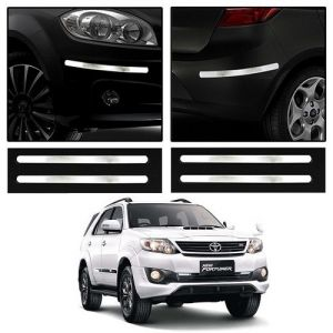 Safety guards - Trigcars Toyota Fortuner Old Car Chrome Bumper Scratch Potection Guard   Car Bluetooth
