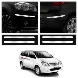 Safety guards - Trigcars Toyota Innova Old Car Chrome Bumper Scratch Potection Guard   Car Bluetooth