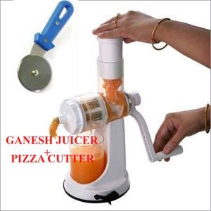 Ganesh Fruit & Vegetable Juicer With Free Pizza Cutter.