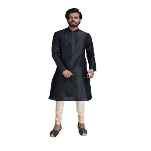 Kurta Sets (Men's) - Limited Edition Cotton Silk Regular Fit Self Design Kurta Pajama ( Code - Akakkuset021)