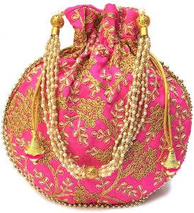 Clutches - Rajasthani Ethnic Handbag Potli Bags For Women / Girls