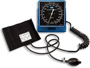 Blood Pressure Monitors - Clock Type BP Monitor HS-60A ABS DESK/WALL TYPE Square Sphygmomanometer B.P Monitor