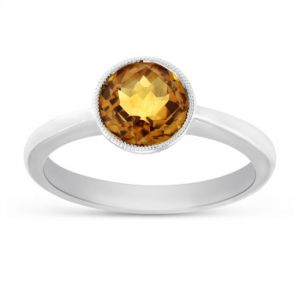 Natural Citrine Silver Ring For Women & Men Original & Semi- Precious Stone 6.25 Ratti Gemstone Ring ( Code- Cey0001)