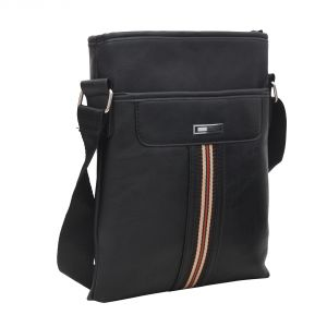 Aquador Messenger Hand Bag With Black Faux Vegan Leather ( Code - Ab-s-1482-black )