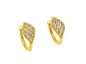 Avsar Real Gold And Diamond Artistic Fancy Earring