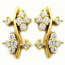 Avsar Real Gold And Diamond Flower Earring Ave057