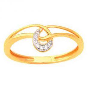 Ag Silver & Real Diamond Asmita Ring ( Code - AGSR0156N )