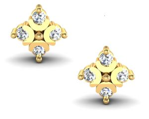 Avsar Real Gold And Swarovski Stone Kanyakumari Earring Ave003yb