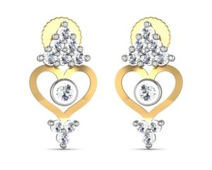 Avsar Real Gold And Diamond Gayatri Earrings Ave156
