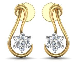 Avsar Real Gold And Diamond Gayatri Earrings Ave051