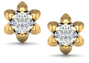 Avsar Real Gold And Swarovski Stone Sachi Earring Ave078yb