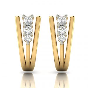Avsar Real Gold And Diamond Earring( Code - Ave308a )