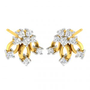 Avsar Real Gold And Diamond Jaya Earring (code - Ave311yb)