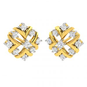 Avsar Real Gold And Diamond Kashish Earring (code - Ave313yb)