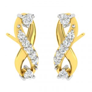 Avsar Real Gold And Diamond Sonal Earring (code - Ave368a)