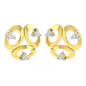 Avsar Real Gold And Diamond Sneha Earring (code - Ave370a)