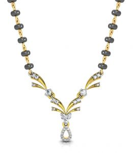 Avsar Real Gold And Diamond Ranchi Mangalsuta Avm076