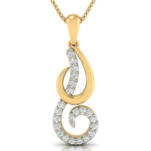 Avsar Real Gold And Diamond Nilam Pendant( Code - Avp330a )