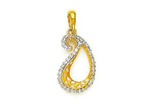 Bling! Real Gold And Diamond Classic Pendant