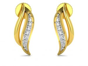 Avsar Real Gold And Cubic Zirconia Stone Divya Earring( Code - Bge060yb )