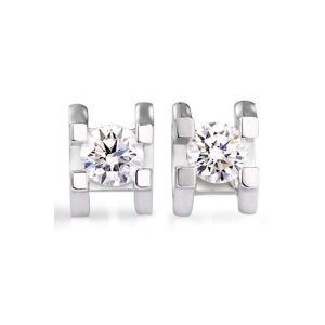 Silver Earrings - Kiara Cubic Zirconia Stone Sterling Silver Amrita Earring( Code - KIE0600 )