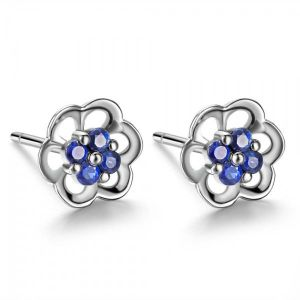 Silver Earrings - Kiara Cubic Zirconia Stone Sterling Silver Nupoor Earring( Code - KIE0601 )