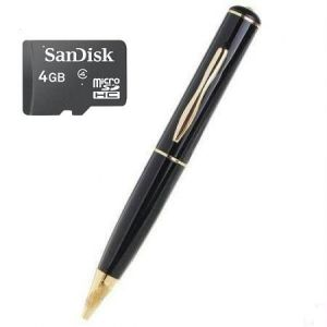 Spy Pen Camera & 4GB Memory Card