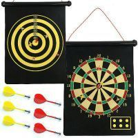 Indoor Games - Magnet Dart Board Game In Circular Can