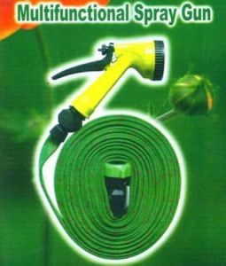 Home Decor & Furnishing - Garden Watering 7.5m Hose Pipe & Water Spray Gun