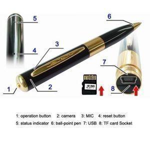 Future tech Hidden Cameras Spy pen hd 1280x720 micro sd card mini Spy Pen  Camera Digital