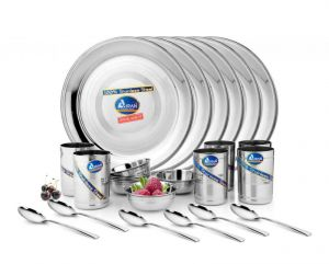 Airan Buffet Stainless Steel 24-piece Dinner Set-(product Code-air1046)