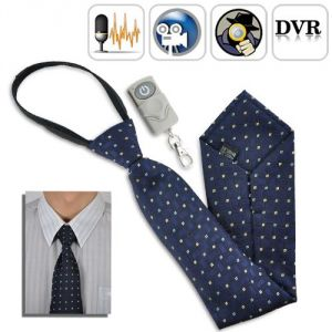 Spy 4 GB Tie Camera With Wireless Remote Hidden Audio And Video Recorder