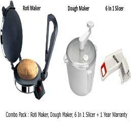 Roti Maker, Dough Maker, 6 In 1 Slicer