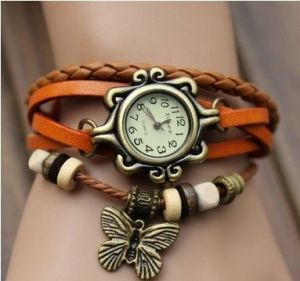 Crunchy Fashion Orange Multilayer Charm Watch Bracelet