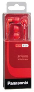 Panasonic,Motorola,Zen Mobile Phones, Tablets - Panasonic RP-HJE140E-R RED earphone